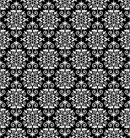 Black and white vector wallparer pattern