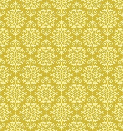 Yellow color vector wallparer pattern Stock Vector - 3254868