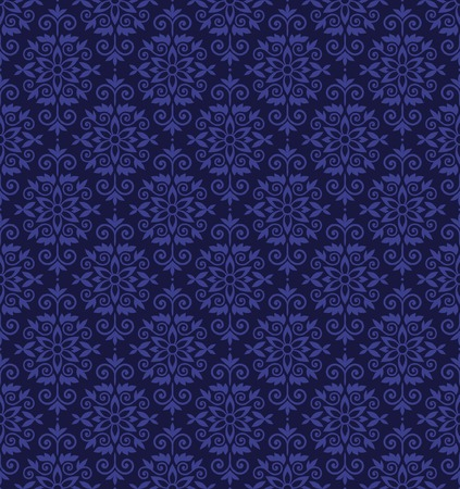Blue color vector wallparer pattern