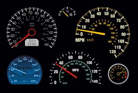 compteur de vitesse: ensemble de vecteur tachym�tre et compteur