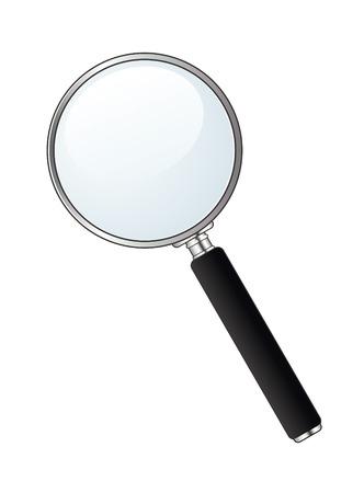 Vector magnifying glass on white background Illustration