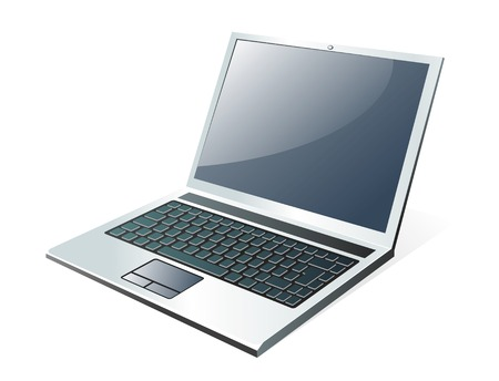 powerbook: Vector Laptop on white background