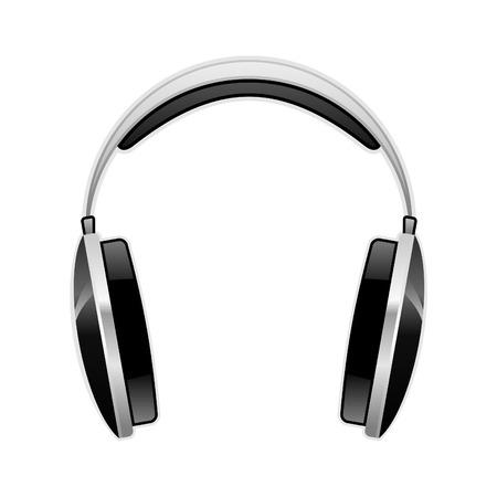 Vector Kopfhörer im Aqua-Stil