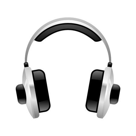 Vector Headphones in aqua style Vector