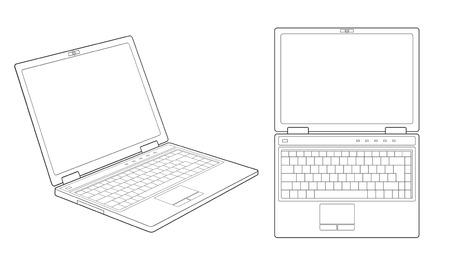 powerbook: Vector Laptop on white  Illustration