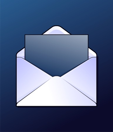 Envelop with some letter. Vector. Vector