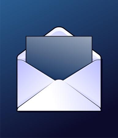 envelop: Envelop with some letter. Vector. Illustration
