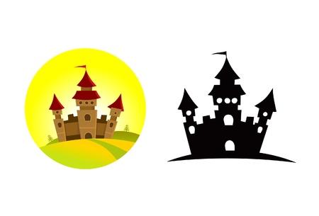 丘の上の大規模な城