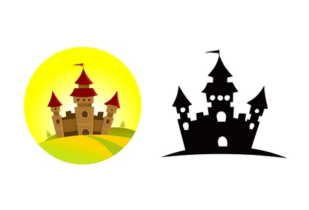 Grand château sur la colline