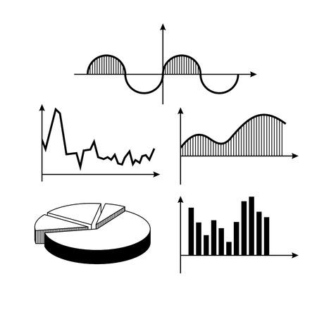 Vector set of mathematics graphics Stock Vector - 9478499