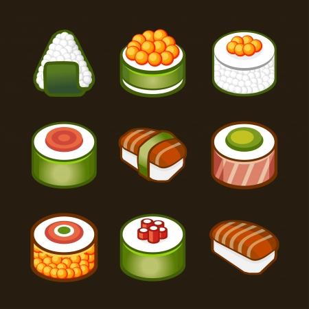 maki sushi: sushi set - japan cousine