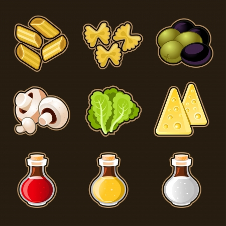 cooking oil: Italian food icon set