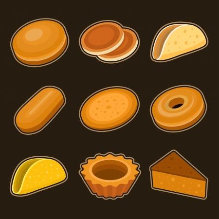 Baking icon set Illustration