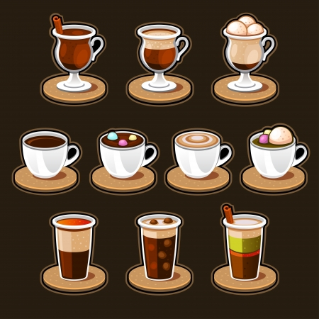 Coffee and tea cup set Stock Vector - 19871586