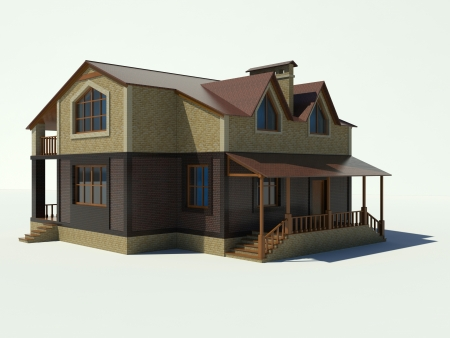 House 3D on a white background  Stock Photo - 20295541