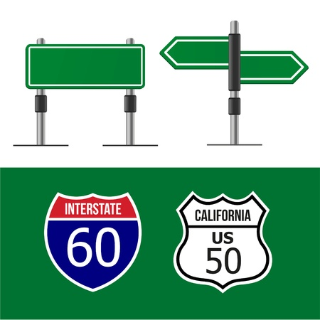 Modern road sign Design template Illustration