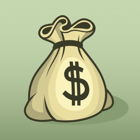 moneybag: Money icon with bag