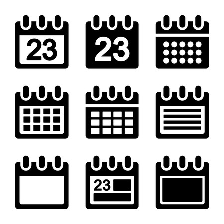 Day calendar elements icons set. Vector. EPS8. photo