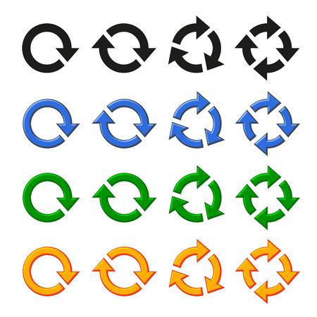 refresh button: Four arrow rotation set Stock Photo