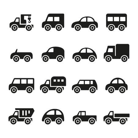 hatchback: Cars icon set Stock Photo