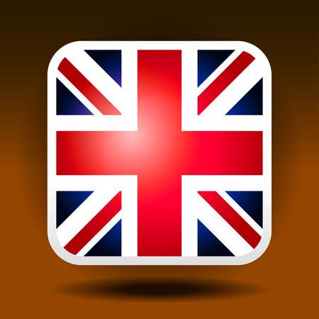 ios: England flag ios icon style Stock Photo
