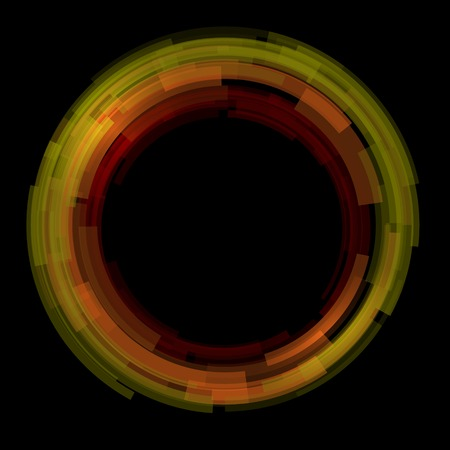 covet: Abstract technology circles background. Red color Stock Photo