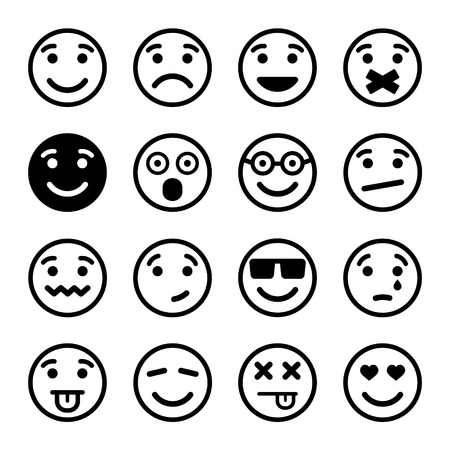 Smiley faces ns set. Vector Illustration EPS8 illustration