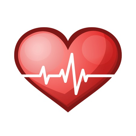 Heart beat rate icon, healthcare and medical concept