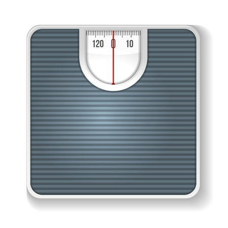 analog weight scale: Weight Scale. Illustration on white background.