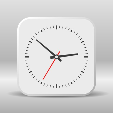 Clock icon on a white background. Vector illustration illustration