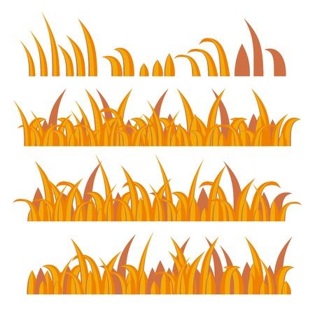 Autumn Grass Constructor on White. Vector illustration illustration