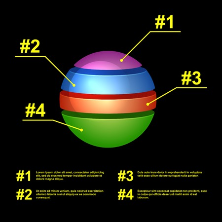 Colorful Business Pie Chart for Your Documents, Reports and Presentations photo