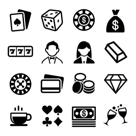 Gambling and Casino Icons Set. Stock Photo
