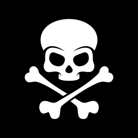 danger skull: Skull and bones - a mark of the danger  warning