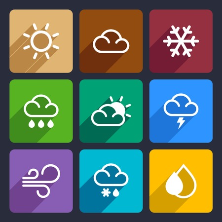 Weather icons set for Web and Mobile Applications photo