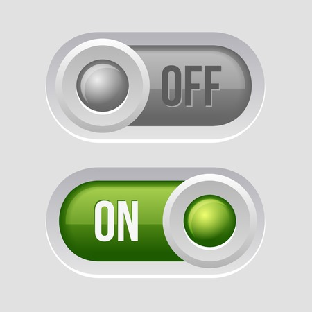 Toggle Switch Sliders On and Off position. Vector Illustration illustration