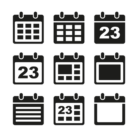 Day calendar elements icons set. photo
