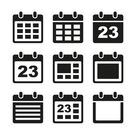 Day calendar elements icons set. photo