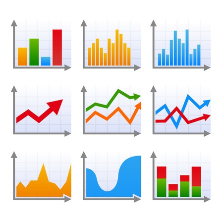 bar graph: Infographic set with colorful arrows. Vector illustration.