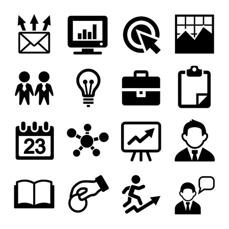 copywriting: Marketing, SEO and Development icons set.