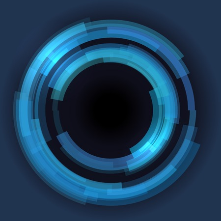 covet: Abstract technology circles background