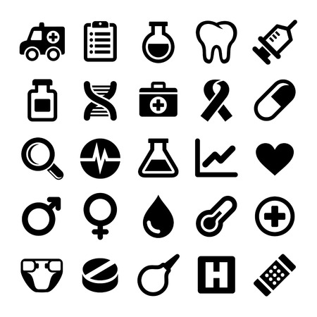 medical laboratory: Medical icons set