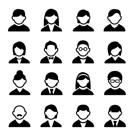 Family Icons and People Icons with White Background photo