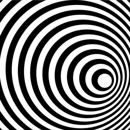 spiral vector: Abstract Ring spiral black and white pattern. Vector illustration. Stock Photo