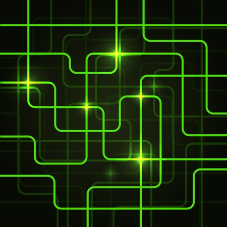 Circuit Electric Board abstract background. Vector illustration. illustration