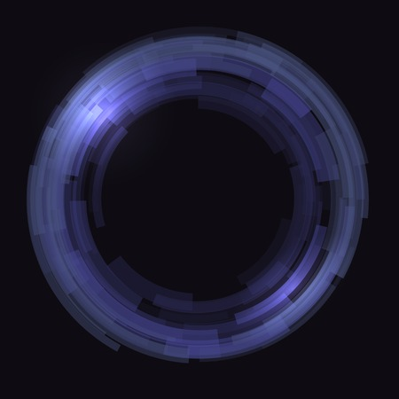 covet: Abstract technology circles background. Blue color Stock Photo