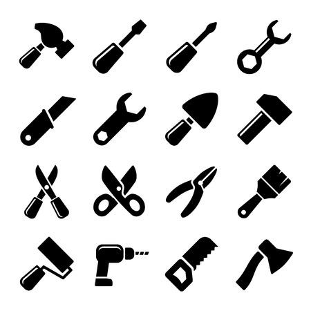 Working tools icon set photo