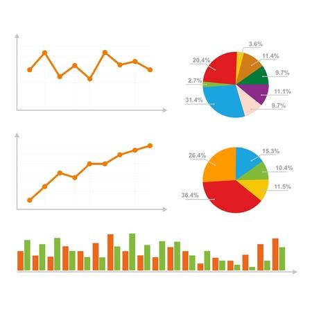 percentual: Charts, Statistics and Pie Diagram. Vector Illustration. Stock Photo