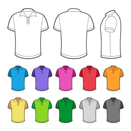 simple store: Polo in various colors. Vector Illustration on white background. Stock Photo