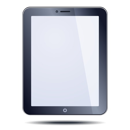 Realistic tablet pc computer with blank screen photo